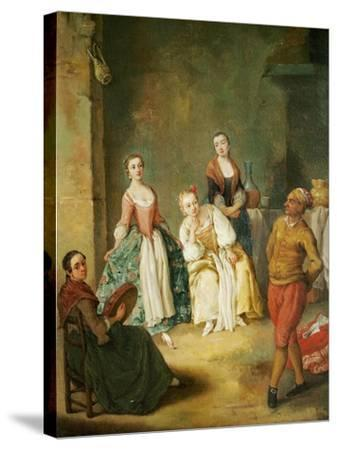 Dance of Furlana-Pietro Longhi-Stretched Canvas Print