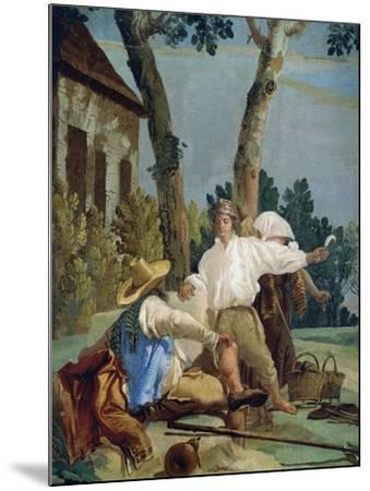 Peasants at Rest-Giandomenico Tiepolo-Mounted Giclee Print