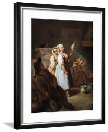 Spinners, 1735-1740-Pietro Longhi-Framed Giclee Print