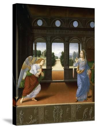 Annunciation, C.1480-Lorenzo di Credi-Stretched Canvas Print