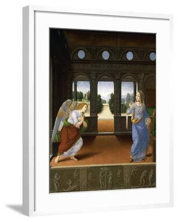 Annunciation, C.1480-Lorenzo di Credi-Framed Giclee Print