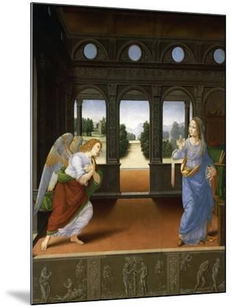 Annunciation, C.1480-Lorenzo di Credi-Mounted Giclee Print