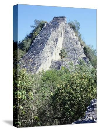 The Castle Pyramid in Coba--Stretched Canvas Print