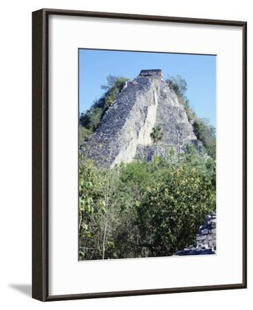 The Castle Pyramid in Coba--Framed Giclee Print