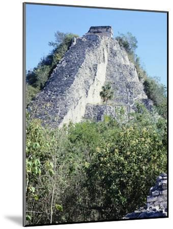 The Castle Pyramid in Coba--Mounted Giclee Print