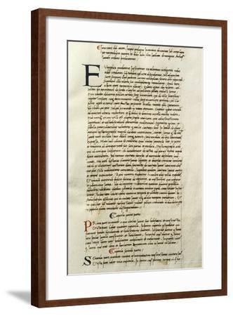 Miniature from Chronicon Januense--Framed Giclee Print