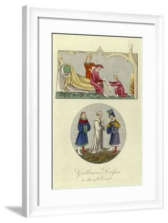 Gentlemen's Dresses in the 14th Century--Framed Giclee Print