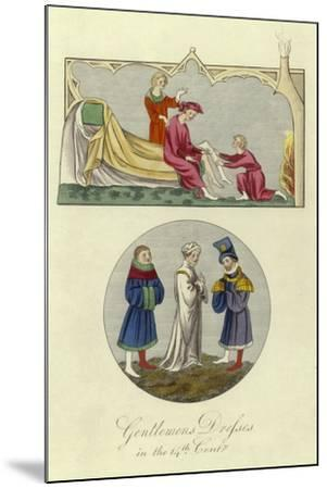 Gentlemen's Dresses in the 14th Century--Mounted Giclee Print