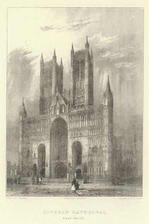 Lincoln Cathedral, West Front--Framed Giclee Print