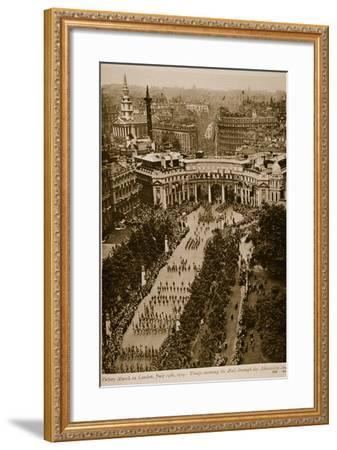Victory March in London, July 19Th, 1919--Framed Photographic Print