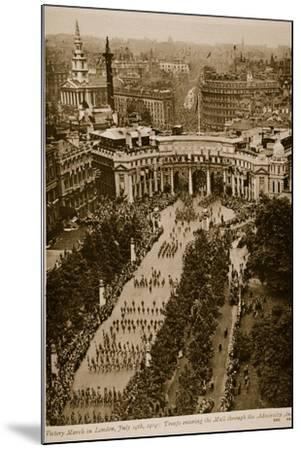 Victory March in London, July 19Th, 1919--Mounted Photographic Print