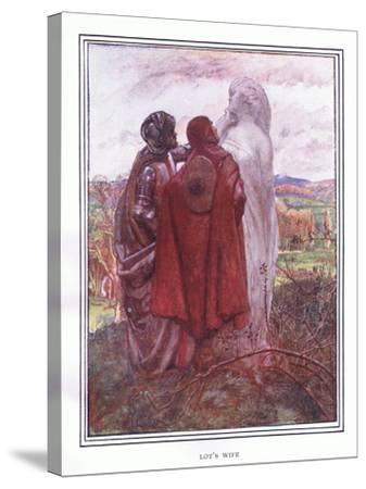 Lot's Wife-John Byam Liston Shaw-Stretched Canvas Print