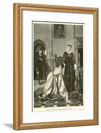 Death Warrant of Mary Queen of Scots--Framed Giclee Print