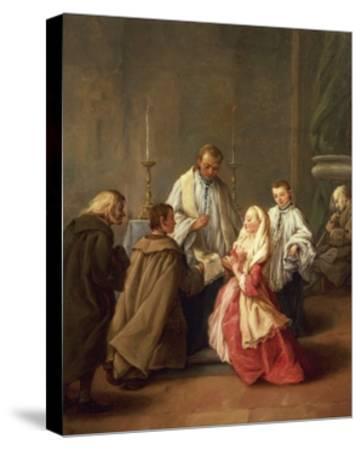 The Seven Sacraments: Marriage-Pietro Longhi-Stretched Canvas Print