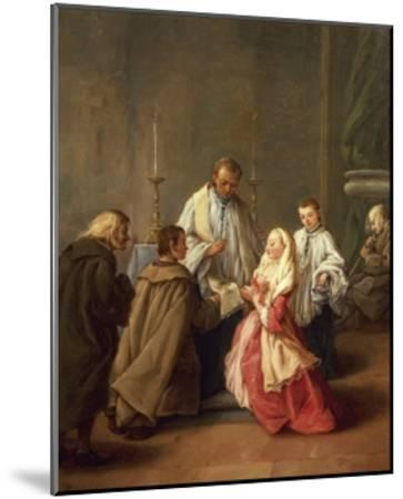The Seven Sacraments: Marriage-Pietro Longhi-Mounted Giclee Print