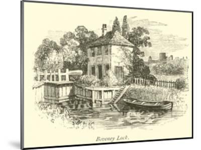 Boveney Lock--Mounted Giclee Print