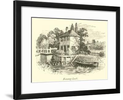 Boveney Lock--Framed Giclee Print