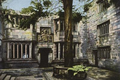 Courtyard, Skipton Castle, Yorkshire--Framed Photographic Print