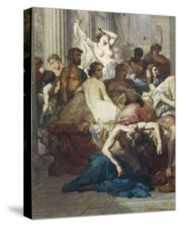 Romans of Decadence, 1847-Thomas Couture-Stretched Canvas Print