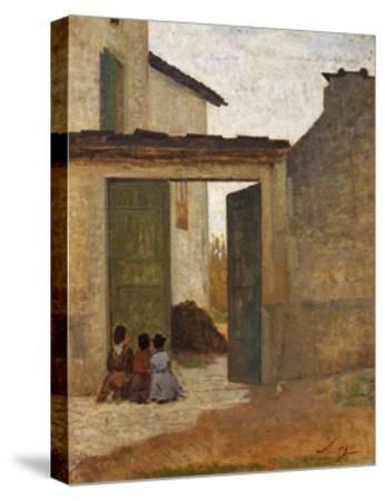 Viaticum, Circa 1864-Silvestro Lega-Stretched Canvas Print