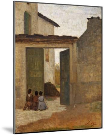 Viaticum, Circa 1864-Silvestro Lega-Mounted Giclee Print