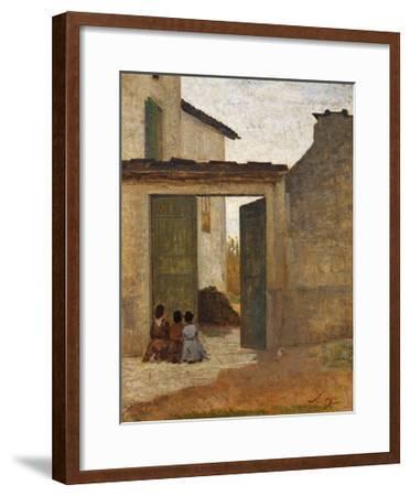 Viaticum, Circa 1864-Silvestro Lega-Framed Giclee Print