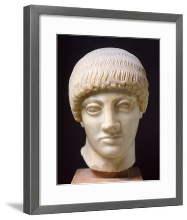 Head of Blond Ephebe--Framed Giclee Print
