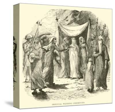Oriental Wedding Ceremonies--Stretched Canvas Print