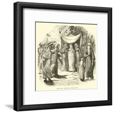 Oriental Wedding Ceremonies--Framed Giclee Print