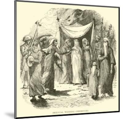 Oriental Wedding Ceremonies--Mounted Giclee Print