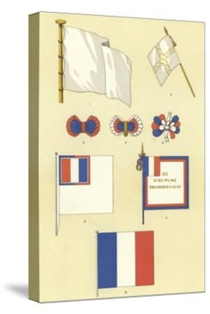 Origins of the French Tricolour--Stretched Canvas Print