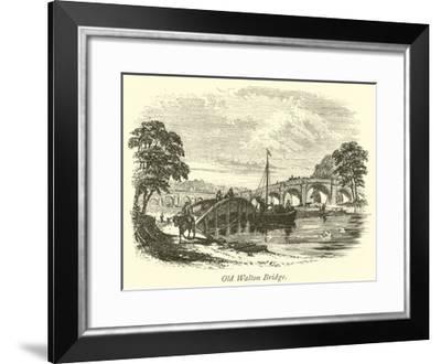 Old Walton Bridge--Framed Giclee Print