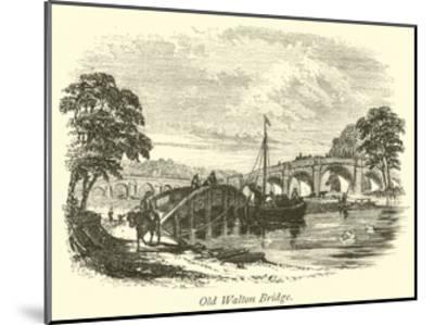 Old Walton Bridge--Mounted Giclee Print