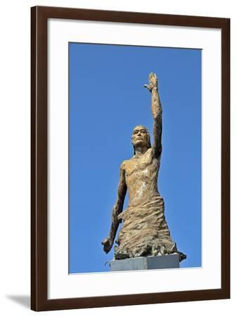 Tsunami Statue, Sri Lanka--Framed Photographic Print