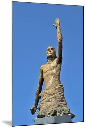 Tsunami Statue, Sri Lanka--Mounted Photographic Print