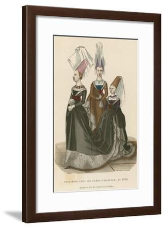 Princess with Her Ladies of Honour, 1470--Framed Giclee Print