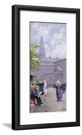 The Flower Seller-Paul Fischer-Framed Giclee Print