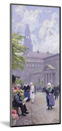 The Flower Seller-Paul Fischer-Mounted Giclee Print