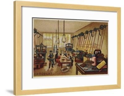 Chocolate Manufacturing--Framed Giclee Print