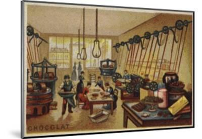 Chocolate Manufacturing--Mounted Giclee Print
