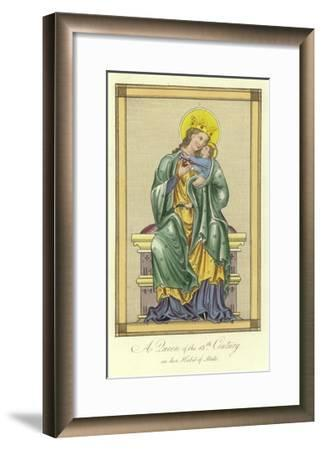 A Queen of the 13th Century in Her Habit of State--Framed Giclee Print
