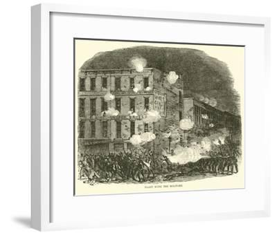 Fight with the Military, July 1863--Framed Giclee Print