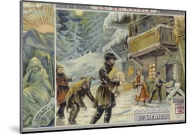 Christmas in Norway--Mounted Giclee Print