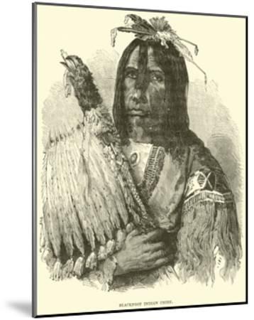 Blackfoot Indian Chief--Mounted Giclee Print
