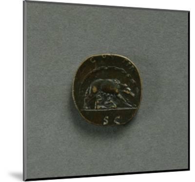 Sestertius of Emperor Antoninus Pius--Mounted Giclee Print