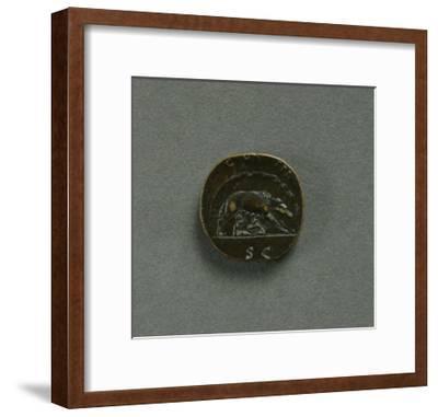 Sestertius of Emperor Antoninus Pius--Framed Giclee Print
