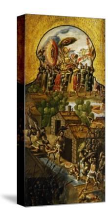 Capture of Aztec Emperor Montezuma II--Stretched Canvas Print