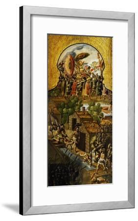 Capture of Aztec Emperor Montezuma II--Framed Giclee Print