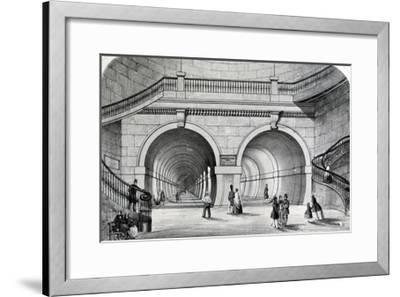 The Thames Tunnel--Framed Giclee Print