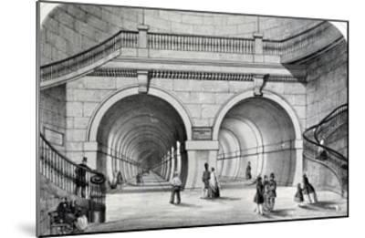 The Thames Tunnel--Mounted Giclee Print
